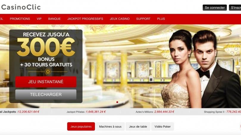 inscription clic casino